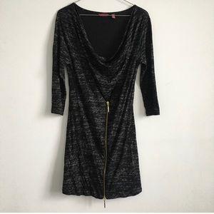 Ted baker 3/4 sleeve black dress with zipper soft
